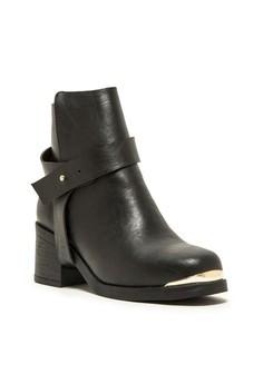 Tatum Gold Trim Ankle Boots