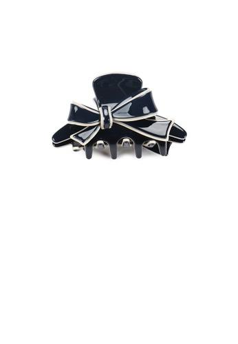 Glamorousky silver Fashion and Elegant Beige Side Ribbon Blue Small Hair Claw AE3B1ACDC495CDGS_1
