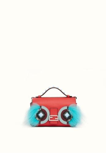 FENDI red FENDI DOUBLE MICRO BAG BUGS BAGUETTE BAG 22797ACA229CF9GS_1
