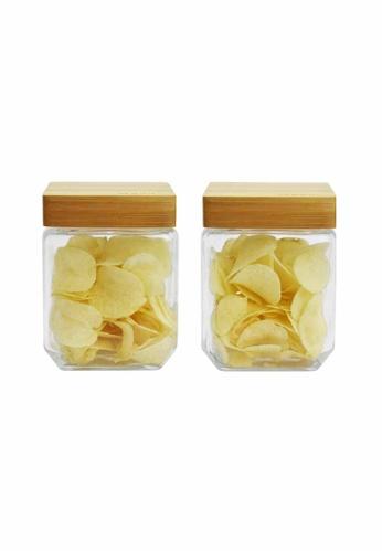 Slique n/a Premium Glass Jar With Bamboo Lid 1000ml CED96HL39AF85FGS_1