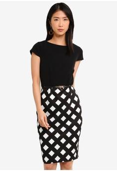 06d619c7c6c Paper Dolls black and white Check Bodycon Dress 3D5A1AAF4044C1GS 1