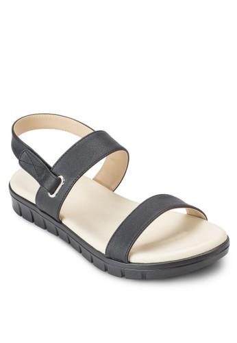雙帶繞esprit 童裝踝厚底涼鞋, 女鞋, 鞋