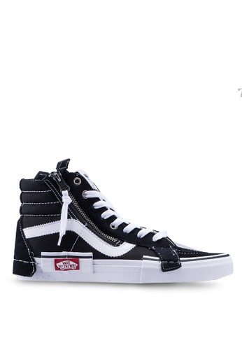 VANS black SK8-Hi Reissue CAP Sneakers 34B3BSHC051887GS_1
