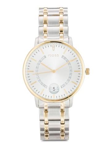 Anton 皮革圓框手錶, 錶類, 飾品esprit衣服目錄配件