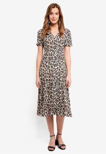Mango brown Leopard Print Dress C35B0AA0D2E8E2GS_1
