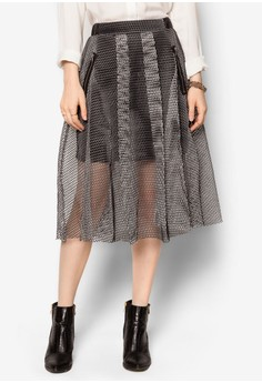 Perforated Midi Skirt