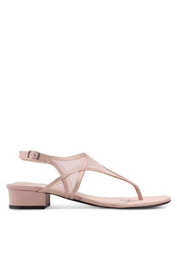 Bata pink Strappy Low Heels FD091SHBE5EF84GS_1