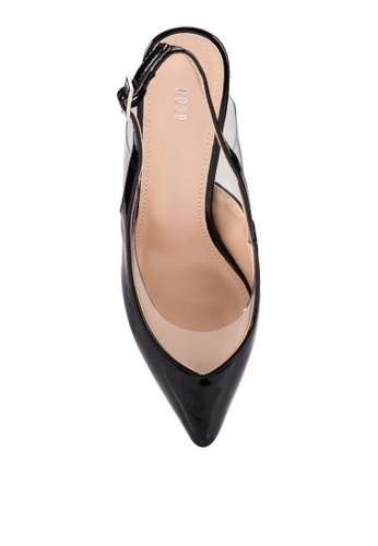 b22359131f08 Shop Nose Vinyl Patent Pointy Toe Slingback Heels Online on ZALORA  Philippines