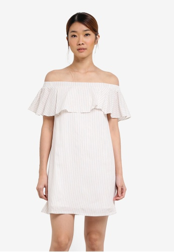 Something Borrowed multi Double Layer Off Shoulder Dress 64EF9AAEA9BE7BGS_1
