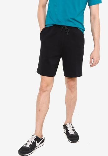 Nike black and grey AS Men's Sportswear Tech Fleece Shorts 8F01BAA06C99C9GS_1