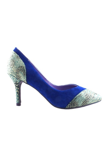 Flatss & Heelss by Rad Russel blue Two Toned Colored Heels FL655SH42HLPSG_1
