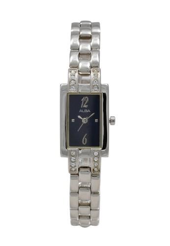 Alba silver ALBA Jam Tangan Wanita - Silver Black - Stainless Steel - AC3P59 FCF29AC86A4A2BGS_1