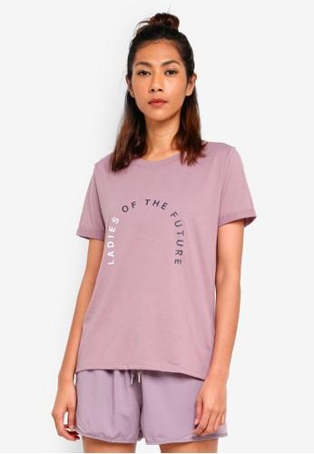 Cotton On Body purple Slogan T-Shirt F7102AADFC1A1CGS_1