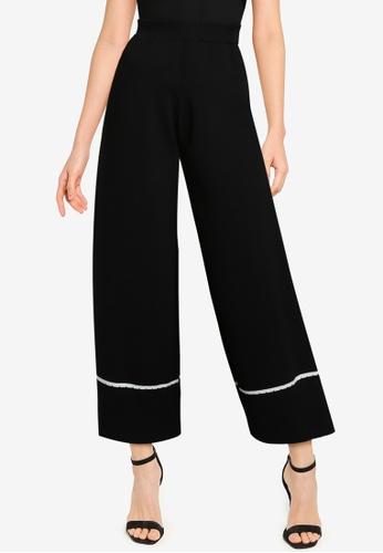 ZALORA BASICS black Knitted Long Pants AC3FCAA9E072A7GS_1