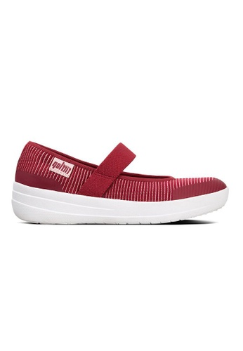 FitFlop red Fitflop Uberknit Mary Janes (Royal Red Mix) 58A9FSH4E2DCF4GS_1