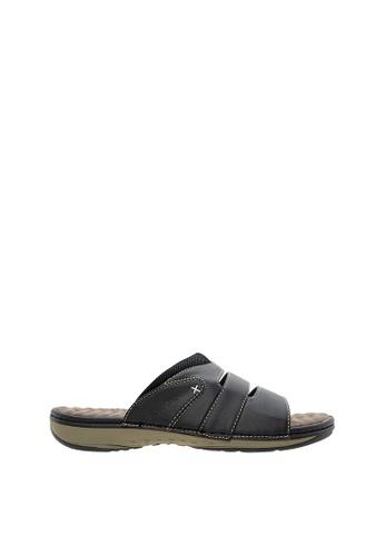 SEMBONIA black SEMBONIA Men Synthetic Leather Slipper (Black) SE598SH0SZ8HMY_1