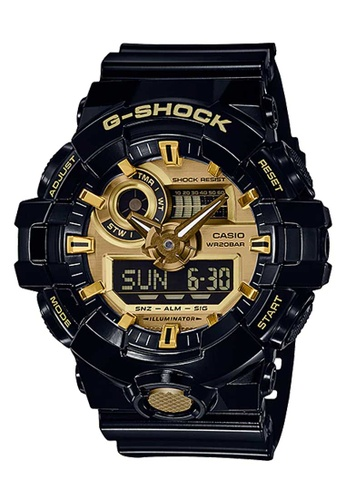 CASIO black Casio G-Shock Gold and Black Resin Watch F1E1DACB95FC97GS_1