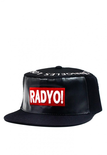 Cap City International black Cap City Flat Brim Radyo Unisex Hip Hop Snapback CA260AC0JJYFPH_1