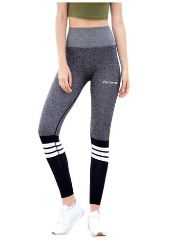 Famme Sportswear grey Famme Sportswear Elevate Stripe Leggings 0BF28AA86C0DC4GS_1