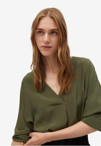 Mango 米褐色 飄逸襯衫 019F7AA87F33B1GS_1