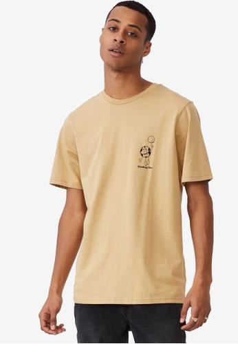 Cotton On brown Tbar Art T-Shirt DD9E7AAE4B79D6GS_1