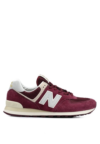 New Balance red 574 Lifestyle Shoes B89A8SHCA465BCGS_1