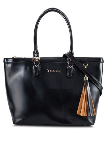 PLAYBOY BUNNY black Playboy Bunny Handbag PL604AC85PFYMY_1