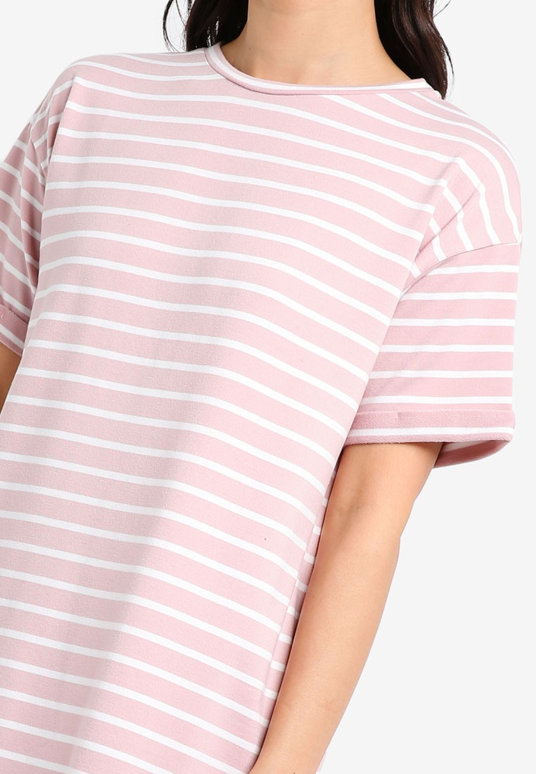 Essential Stripe 2 amp; ZALORA Shirt T Navy White BASICS amp; Pink Dress Pack Stripe White 6FqrFxw5