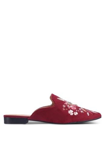 Noveni 紅色 花卉平底鞋 2EAE7SHB61D8CAGS_1