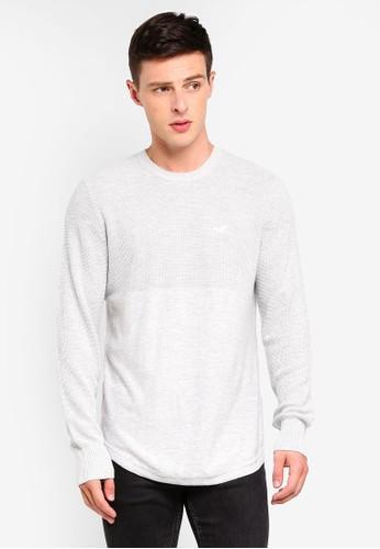 Hollister grey Texture Sweater F7536AA246D04DGS_1