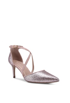 110be5db373 35% OFF Dorothy Perkins Pink Glitter Elsa Court Shoes RM 159.00 NOW RM  102.90 Sizes 6