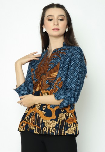 Adinata Batik blue JACKLYN JORDAN BLOUSE 784CCAAED00912GS_1