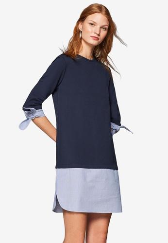 ESPRIT navy Knitted Mini Dress CB842AA79AC855GS_1