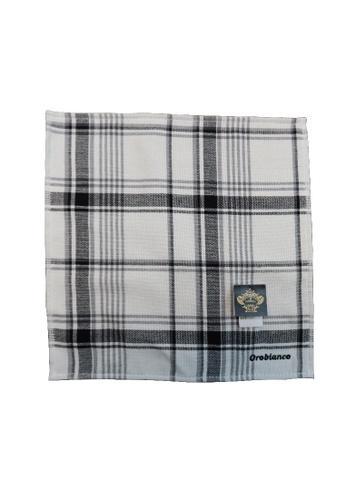 Orobianco grey 100% Cotton Towel Handkerchief 161F8AC30676B2GS_1