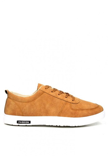 London Fashion brown Amadore 6808 Lace up Sneakers for Men LO229SH0JFEJPH_1
