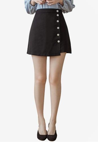 Tokichoi black Button-Front A-Line Mini Skirt 685BFAADB044AAGS_1
