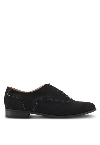 ZALORA 黑色 經典麂皮牛津鞋 A7E9DSH72D0DDEGS_1