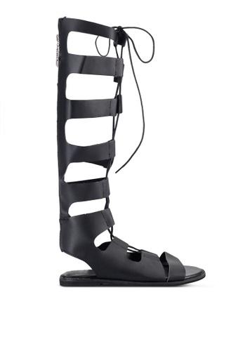 Sunnydaysweety black 2018 New Ghillie Sandals A0220BK E1F18SH58DE835GS_1