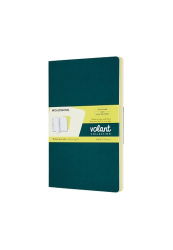 Moleskine green Volant Journals Ruled Soft Green Large 0BF6AHL4C07D78GS_1