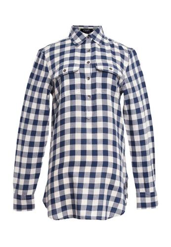 9f34b4ddf961e0 Chaps blue Chaps Gingham Cotton Shirt 34A85AAD0560B0GS 1