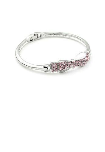 Glamorousky purple Enchanting Ribbon Bangle with Purple Austrian Element Crystal 2561FAC34800E1GS_1