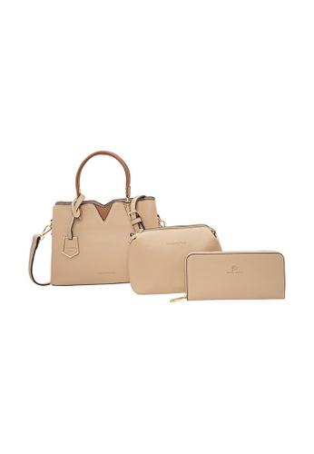 LancasterPolo brown Lancaster Polo Layered-Lorraine Handbag (3 in 1 Set) FB455AC1C9C6D9GS_1