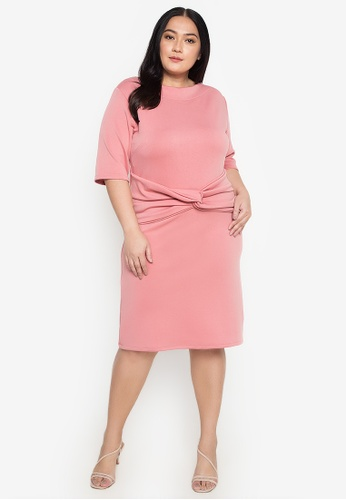 RUESALIDOU orange Plus Size Bernadeth Dress FB4DDAAF0FE406GS_1
