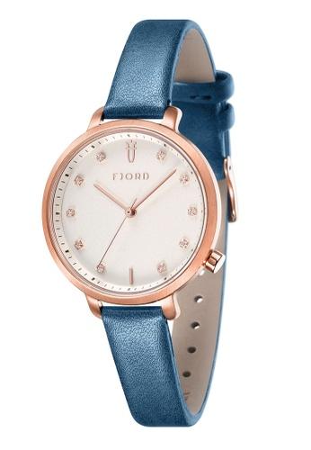 Fjord blue Fjord Women's Genuine Leather Watch - FJ-6044-04 D43C3AC5D7739AGS_1