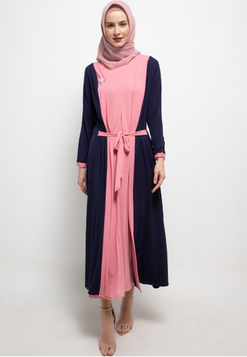 REMIX JEANS pink and navy Gamis B486 44DEAAA8141A78GS_1
