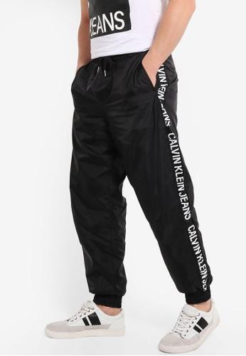 fac409a585 Calvin Klein black Institutional Stripe Jogger - Calvin Klein Jeans  E1C65AA6533818GS_1