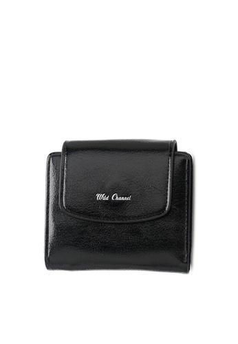 Wild Channel 黑色 Women's Bi Fold Wallet BDC55ACB663AF5GS_1