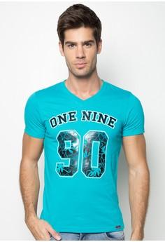 CVC Comb Cotton One Nine 90 Floral Print T-shirt