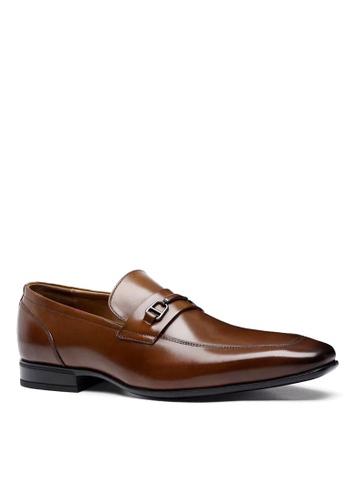 Twenty Eight Shoes 褐色 精緻的易穿脫真皮商務鞋 VMF6710 3CA6BSH390B6D3GS_1