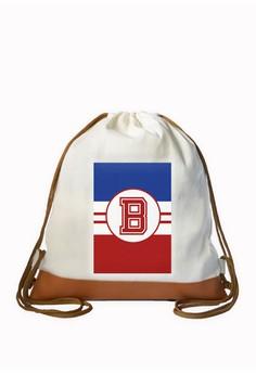 Drawstring Bag Sporty Initial B